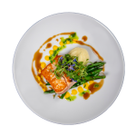 Salmon with Parsnip Puree and Green Beans